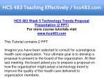 hcs 483 teaching effectively hcs483 com 19
