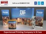 experienced printing company in st ives