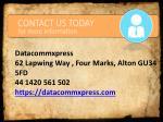 datacommxpress 62 lapwing way four marks alton