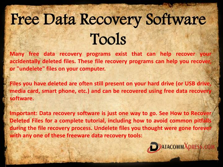 free data recovery software tools n.