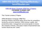 hrm 498 outlet teaching effectively hrm498outlet 11