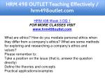 hrm 498 outlet teaching effectively hrm498outlet 8