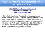 hcs 490 tutors teaching effectively hcs490tutors 10