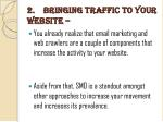 2 bringing traffic to your website