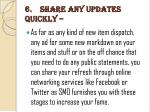 6 share any updates quickly