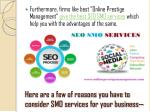 here are a few of reasons you have to consider smo services for your business