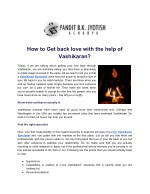 how to get back love with the help of vashikaran