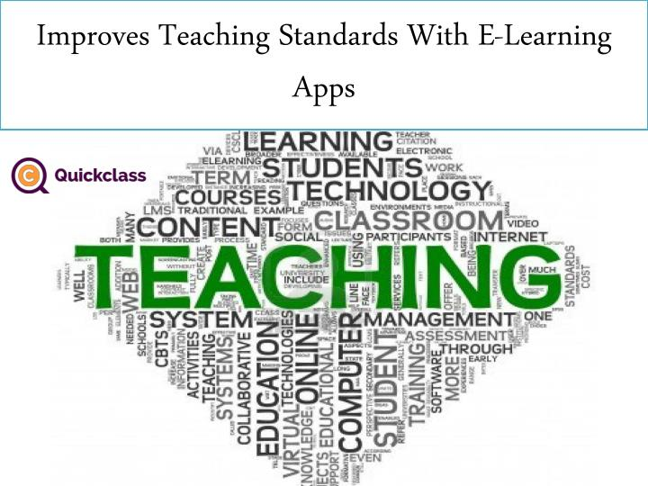 improves teaching standards with e learning apps n.