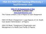 hsa 515 mentor teaching effectively hsa515mentor 1