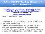 hsa 515 mentor teaching effectively hsa515mentor 11