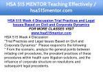 hsa 515 mentor teaching effectively hsa515mentor 12
