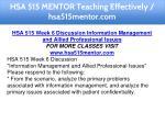hsa 515 mentor teaching effectively hsa515mentor 14