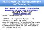hsa 515 mentor teaching effectively hsa515mentor 15