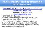 hsa 515 mentor teaching effectively hsa515mentor 16