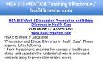 hsa 515 mentor teaching effectively hsa515mentor 19