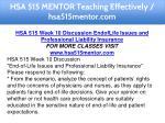 hsa 515 mentor teaching effectively hsa515mentor 20