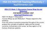 hsa 515 mentor teaching effectively hsa515mentor 21