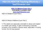 hsa 515 mentor teaching effectively hsa515mentor 6