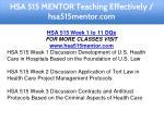 hsa 515 mentor teaching effectively hsa515mentor 8