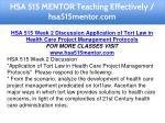 hsa 515 mentor teaching effectively hsa515mentor 9