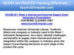 iscom 361 master teaching effectively 10