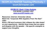 iscom 361 master teaching effectively 12