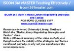 iscom 361 master teaching effectively 21