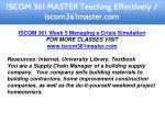 iscom 361 master teaching effectively 26