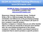 iscom 361 master teaching effectively 6