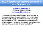 iscom 361 master teaching effectively 8