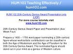 hum 102 teaching effectively hum102 com 2