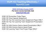 hum 102 teaching effectively hum102 com 3