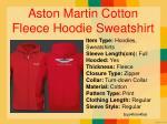 aston martin cotton fleece hoodie sweatshirt