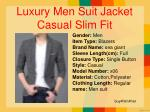 luxury men suit jacket casual slim fit