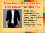 mens brand blazer british s style casual plus size 4xl