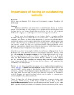 importance of having an outstanding importance