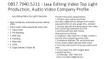 0857 7940 5211 jasa editing video top light