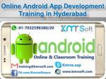 online android app development training in hyderabad