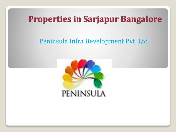 properties in sarjapur bangalore n.