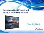 promethean ap4 70e activpanel touch