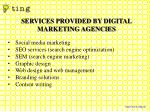 services provided by digital marketing agencies