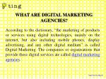 what are digital marketing agencies