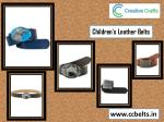 children s leather belts