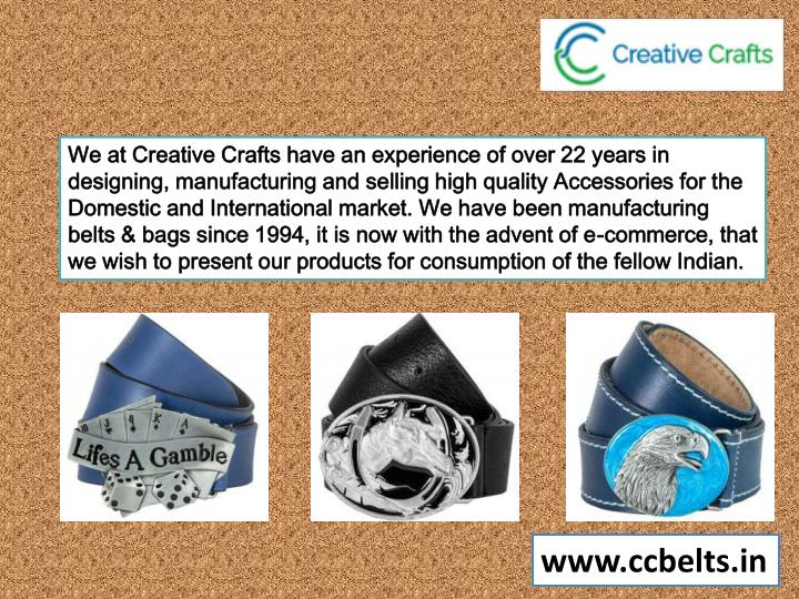 we at creative crafts have an experience of over n.