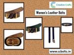women s leather belts