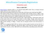 microfinance company registration 2