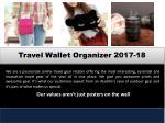 travel wallet organizer 2017 18
