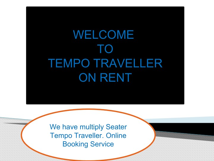 welcome to tempo traveller on rent n.