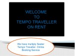 welcome to tempo traveller on rent