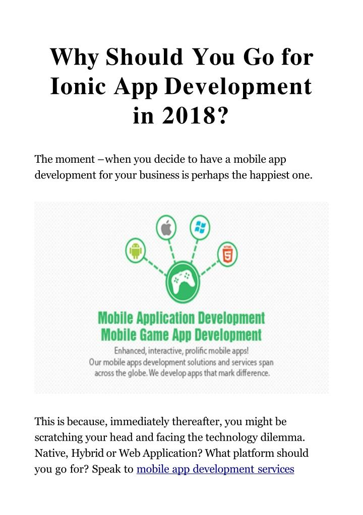 why should you go for ionic app development in 2018 n.